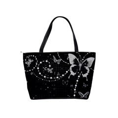 Black And White Butterflies Shoulder Bag By Bags n Brellas   Classic Shoulder Handbag   Xo3xzqxeutw5   Www Artscow Com Back