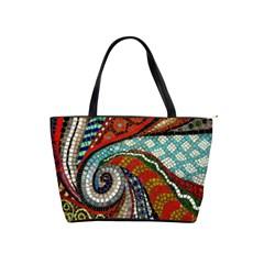 Mosaic Swirl Shoulder Bag By Bags n Brellas   Classic Shoulder Handbag   67gt9dfci8ys   Www Artscow Com Front