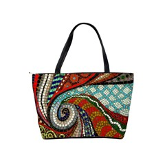 Mosaic Swirl Shoulder Bag By Bags n Brellas   Classic Shoulder Handbag   67gt9dfci8ys   Www Artscow Com Back