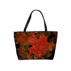 Fall Leaf Shoulder Bag By Bags n Brellas   Classic Shoulder Handbag   9x3ohsxwmto0   Www Artscow Com Back