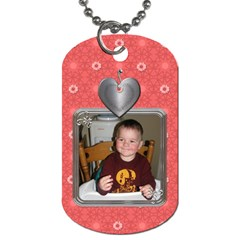 Heart Blossom 2 Sided Dog Tag By Lil    Dog Tag (two Sides)   Dxye9abuh9bx   Www Artscow Com Front