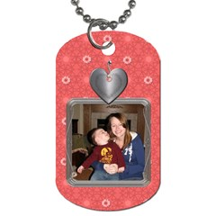 Heart Blossom 2 Sided Dog Tag By Lil    Dog Tag (two Sides)   Dxye9abuh9bx   Www Artscow Com Back