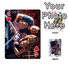 Family Cards By Charis Balyeat   Playing Cards 54 Designs   Inj0nlgo0lwl   Www Artscow Com Front - Heart4
