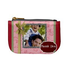 Thank You By Joely   Mini Coin Purse   Mnz3qdqg91w2   Www Artscow Com Front