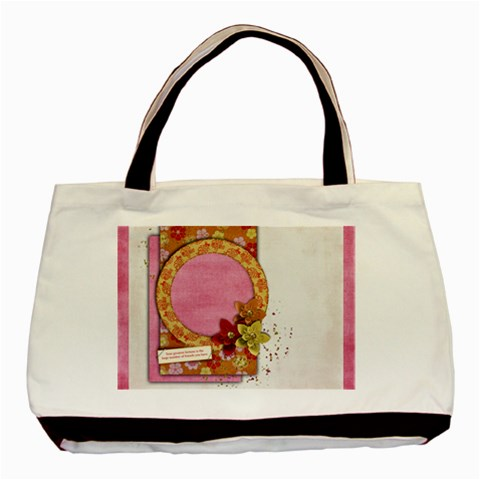 Friends/oriental Tote, 1 Side, Template By Mikki   Basic Tote Bag   Wr8mn6z53on7   Www Artscow Com Front