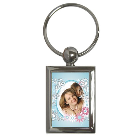 Flower Family By Wood Johnson   Key Chain (rectangle)   Kt6xc8o16fd4   Www Artscow Com Front