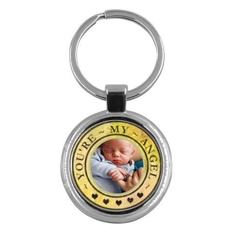 You re My Angel Round Key Chain By Lil    Key Chain (round)   D8vj1gn940iw   Www Artscow Com Front