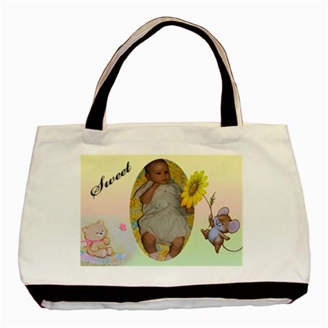 Baby Girl Nappy Tote Bag By Deborah   Basic Tote Bag   Vlsg8j99gxtx   Www Artscow Com Front