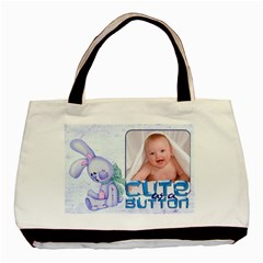 Cute As A Button Baby Boy Double Sided Tote By Catvinnat   Basic Tote Bag (two Sides)   Xhsqjdkgk3lt   Www Artscow Com Front