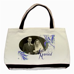 Just Married Double Sided Tote Bag By Catvinnat   Basic Tote Bag (two Sides)   Fvw9z5c19g60   Www Artscow Com Front