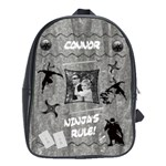 Black & White Ninja Backpack - School Bag (Large)