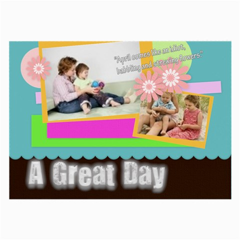 A Great Day By Joely   Large Glasses Cloth   Xtfe4oq0ofv2   Www Artscow Com Front