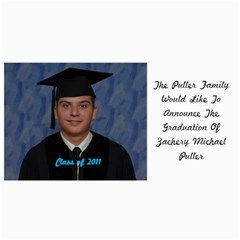 Zack s Grad Card By Doug Mason   4  X 8  Photo Cards   Kek99567i5e3   Www Artscow Com 8 x4 Photo Card - 8