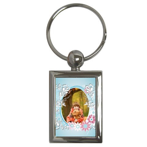 Easter  By Wood Johnson   Key Chain (rectangle)   Vzd441k0ewsf   Www Artscow Com Front