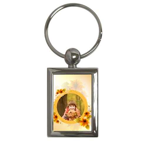 Flower By Wood Johnson   Key Chain (rectangle)   2bu4ncqqm5dv   Www Artscow Com Front