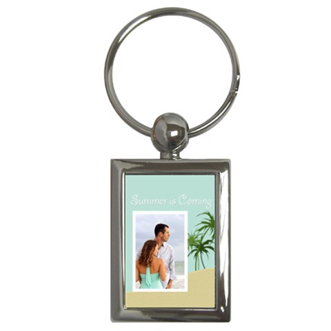 Summer Love By Wood Johnson   Key Chain (rectangle)   E02gqiueo48e   Www Artscow Com Front