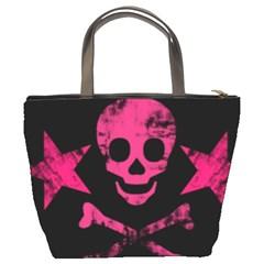 Pink Skull1 Bucket Bag By Bags n Brellas   Bucket Bag   Mt2a0i583c4x   Www Artscow Com Back