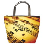 sheet music1 bucket bag