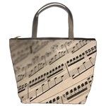 sheet music2 bucket bag