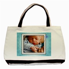 Baby Boy Blue Classic Tote Bag By Lil    Basic Tote Bag (two Sides)   8mzij77kcnh5   Www Artscow Com Back
