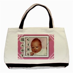 Baby Girl Pink Classic Tote Bag By Lil    Basic Tote Bag (two Sides)   Kyho50feic4b   Www Artscow Com Front