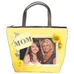 Yellow Floral Mom Bucket Bag