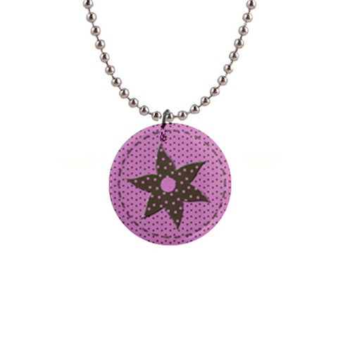 Little Princess Necklace By Chelsea Winsor   1  Button Necklace   Zh177k6u377s   Www Artscow Com Front