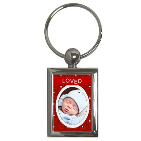 Loved Rectangle Key Chain By Lil    Key Chain (rectangle)   Jdoph5j3eaph   Www Artscow Com Front