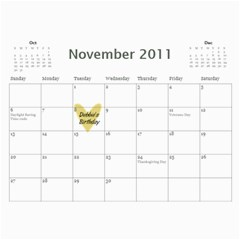 Debbie By Rachel Wood   Wall Calendar 11  X 8 5  (12 Months)   Aljnv8mp5hoj   Www Artscow Com Nov 2011