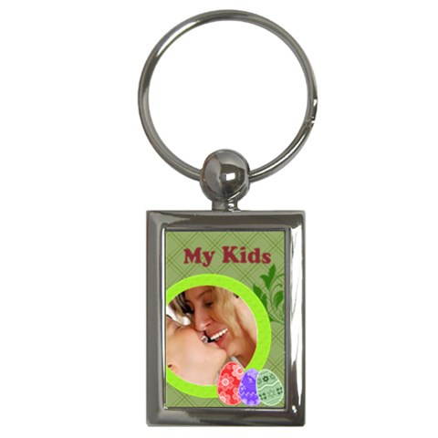 Happy Easter By Wood Johnson   Key Chain (rectangle)   Rrmxa0mmmeoe   Www Artscow Com Front