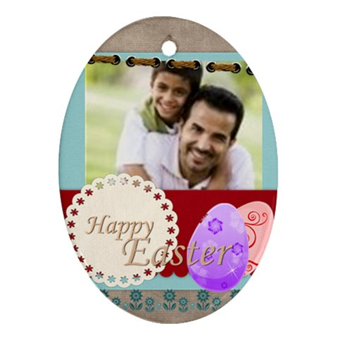 Easter By Joely   Ornament (oval)   Jb8uviir5yb1   Www Artscow Com Front