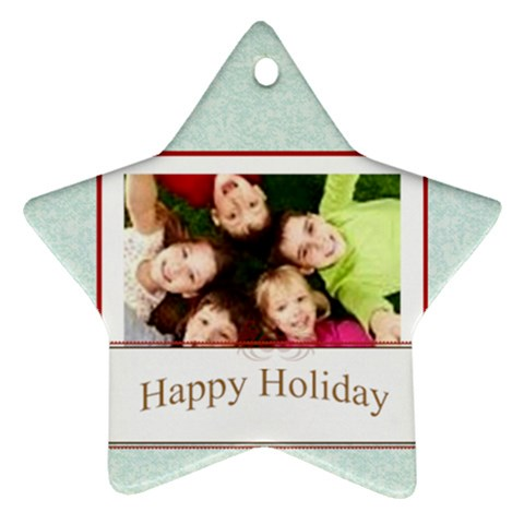 Happy Holiday By Wood Johnson   Ornament (star)   68ncaxncdjbt   Www Artscow Com Front