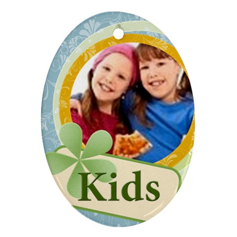 Kids By Wood Johnson   Ornament (oval)   F2c47pso6vf8   Www Artscow Com Front