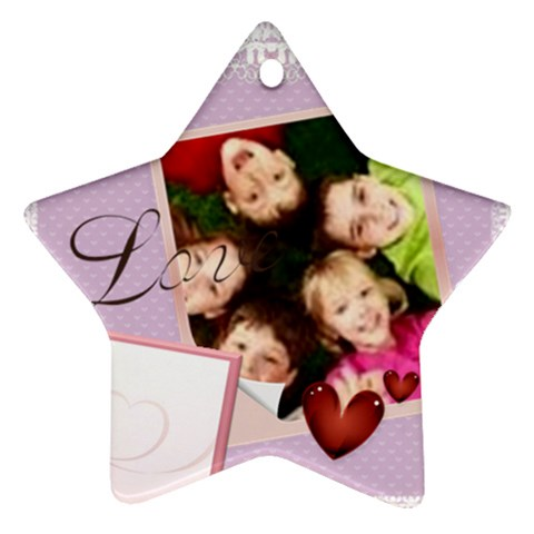 Kids Love By Wood Johnson   Ornament (star)   0nvmx2hygzox   Www Artscow Com Front