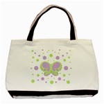 Butterfly Dots Purple-Green Custom Classic Tote Bag  - Basic Tote Bag