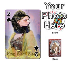 Steohen & Pamelas Cards  By Pamela Sue Goforth   Playing Cards 54 Designs   Rjq0zdgdkbnb   Www Artscow Com Front - Spade2