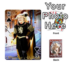 Steohen & Pamelas Cards  By Pamela Sue Goforth   Playing Cards 54 Designs   Rjq0zdgdkbnb   Www Artscow Com Front - Spade5