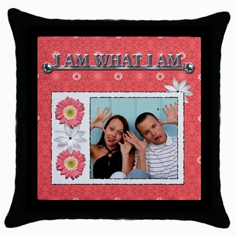 I Am What I Am Pillow Case By Lil    Throw Pillow Case (black)   Elh9444qoag0   Www Artscow Com Front