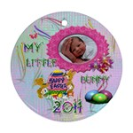 My Little Bunny 2011 Round Pastel Ornament - Ornament (Round)