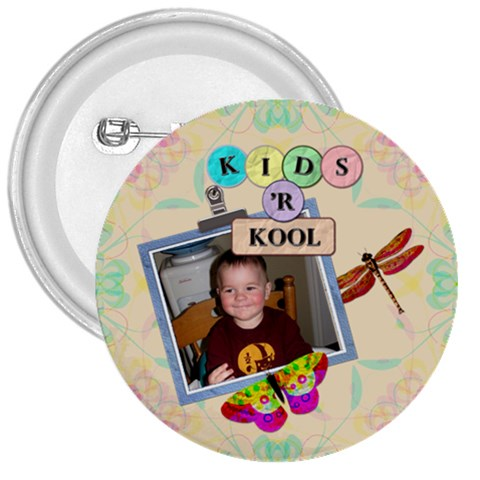 Kids  r Kool 3  Button By Lil    3  Button   9sib8op8skjv   Www Artscow Com Front