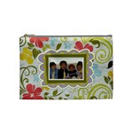 Spring Floral Medium Cosmetic Bag - Cosmetic Bag (Medium)