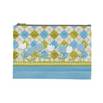 Spring Argyle Plaid Large Cosmetic Bag - Cosmetic Bag (Large)