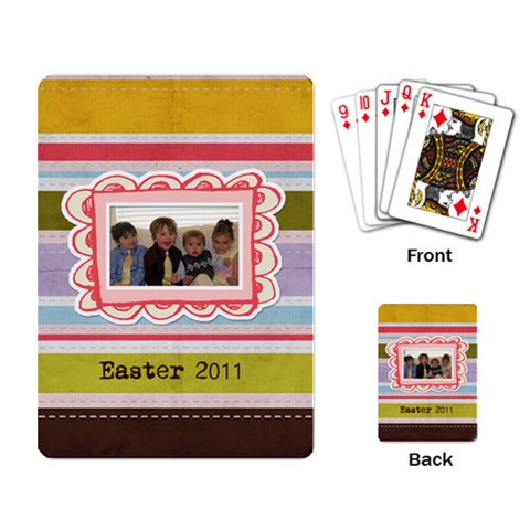 Spring Easter Stripe Playing Cards By Redhead Scraps   Playing Cards Single Design   Eqn8gfk2rg0i   Www Artscow Com Back