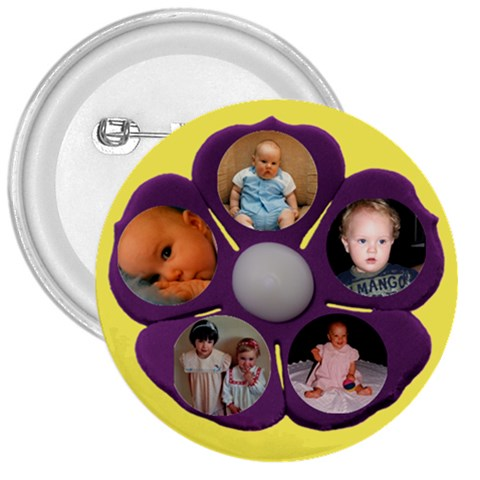 Child/grandchildren Flower,button By Deborah   3  Button   Nyp1pjm7jasa   Www Artscow Com Front