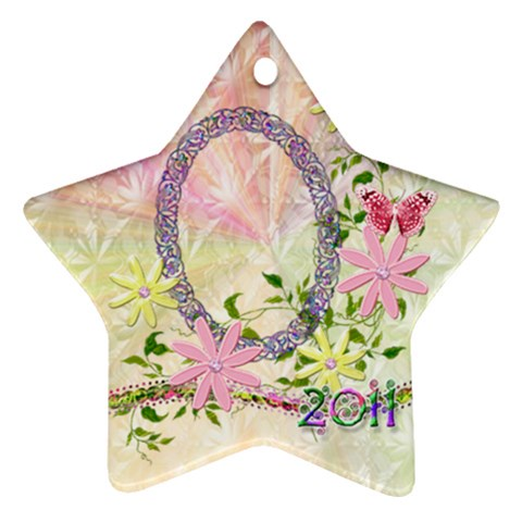 Easter 2011 Pastel Flower Ornament By Ellan   Ornament (star)   Zdk8kb1axkg4   Www Artscow Com Front