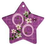 Purple Easter Angel 2011 Pastel flower ornament - Ornament (Star)