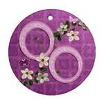 Lavender Flower Round Ornament - Ornament (Round)