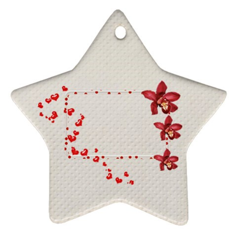 Red White Ornament  By Elena Petrova   Ornament (star)   Nfjlmdrbkbiq   Www Artscow Com Front