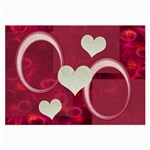 I Heart you Hot Pink Large Glass Cloth - Large Glasses Cloth