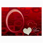 I Heart you Red Large Glass Cloth - Large Glasses Cloth